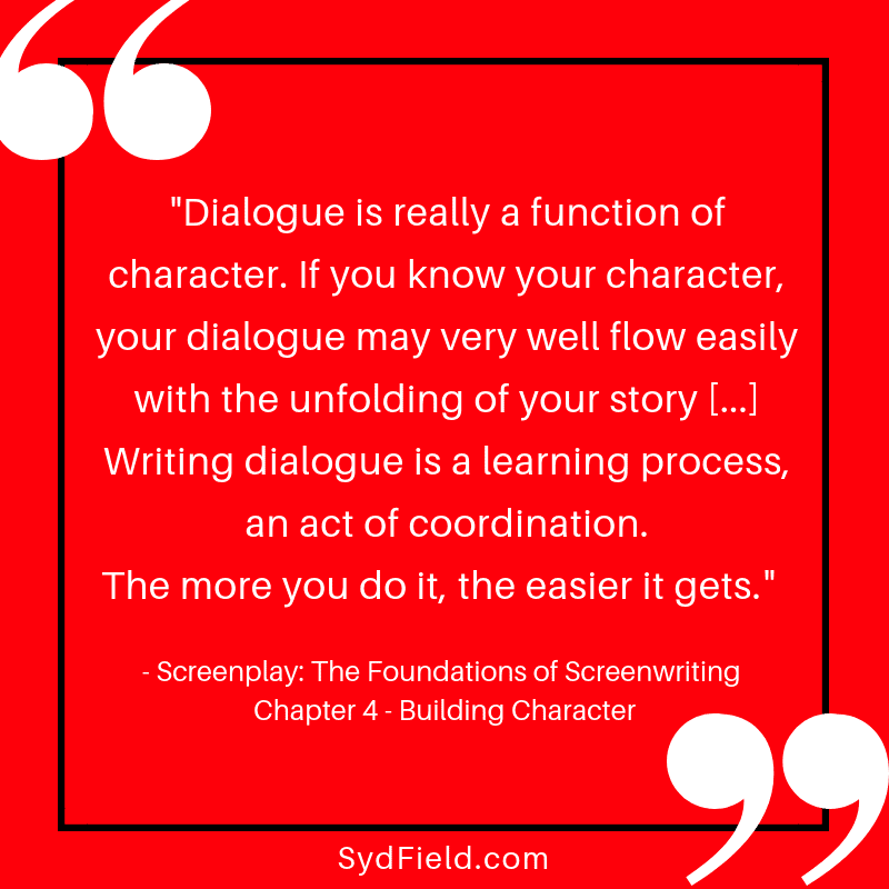 1 Dialogue is really a function Chapter 4 Building Character - Homepage